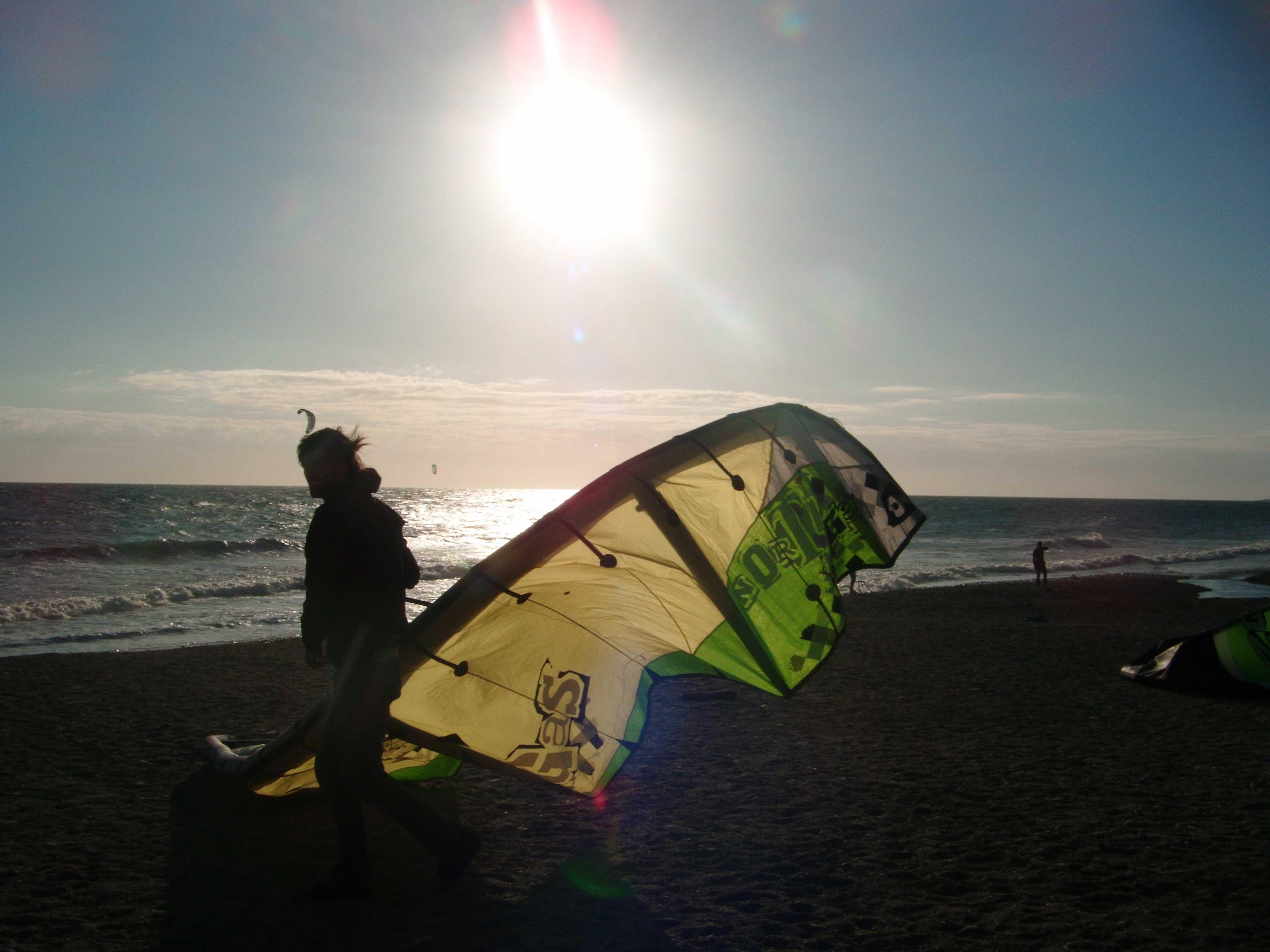 Kite surfing Almuñécar. Villa Colina Tropical. Andalucia.