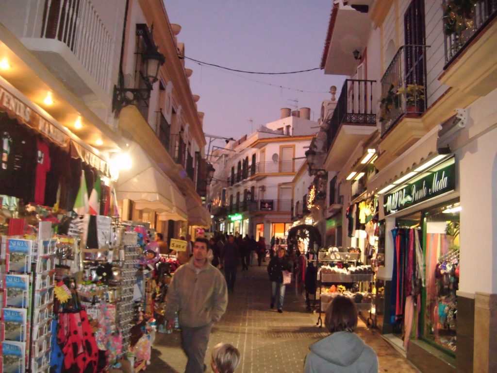Visit to Nerja, Malaga, touristic little town. Spain. Colina Tropical