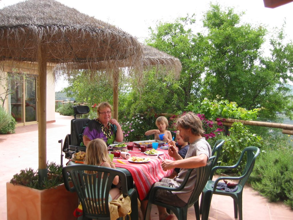 Lunch at the villa Colina Tropical, Andalucia, Spain