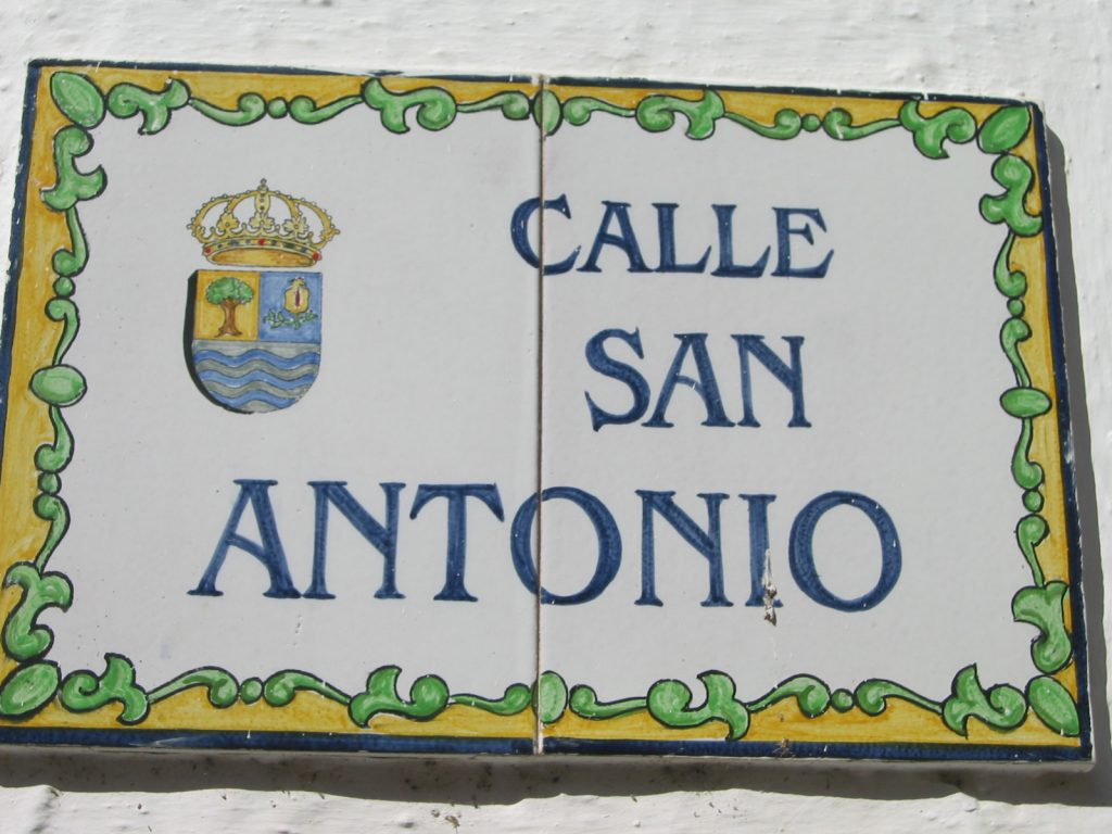 Calle San Antonio, in Jete, Spain