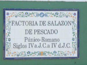 Salaisons phéniciennes au parc Majuelo d'Almuñécar. Villa Colina Tropical