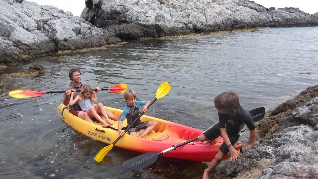 Family kayaking. Almuñécar, Nerja, ...Colina Tropical
